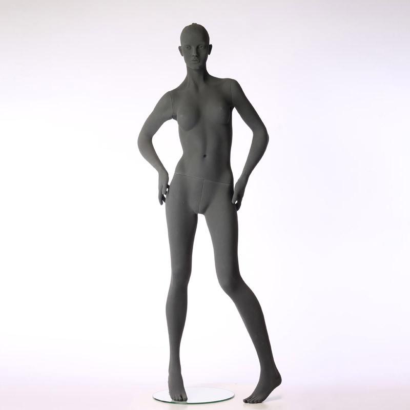 Pure – Stilisierte Damenfigur – mit raue Oberfläche – Hände auf der Hüfte – Hindsgaul