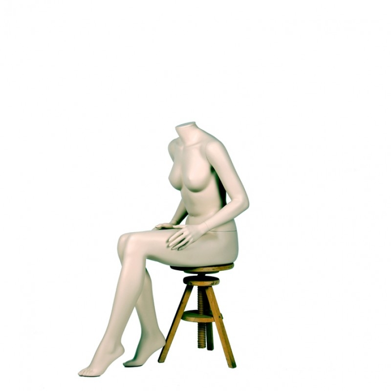 Variable Damenfigur – kopflos –Sitzend - Darrol 700-Serie   – mit Neck-Lock System