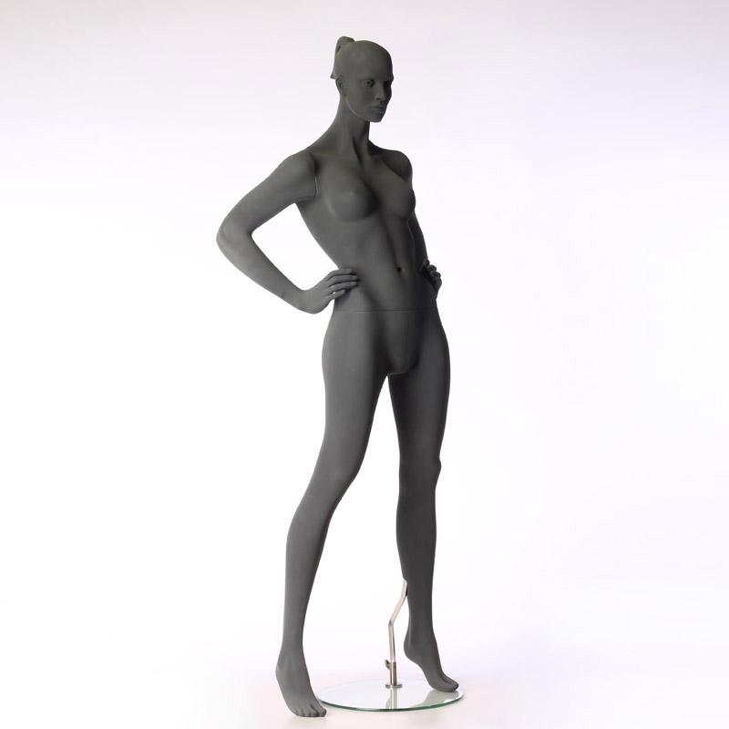 Pure – Stilisierte Damenfigur – mit raue Oberfläche - Hände in Taille gestemmt– Hindsgaul